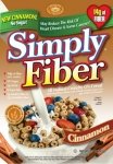 Simply Fiber Cinnamon Cereal 6-Pack Case (6-8.5 oz Boxes)